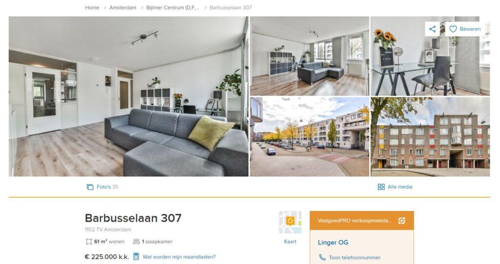 Barbusselaan 307 Amsterdam