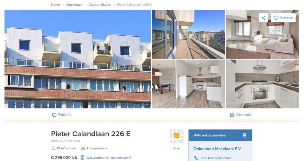 Pieter Calandlaan 226 E Amsterdam
